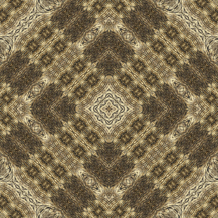 animal fur: Kaleidoscope abstract background. Seamless pattern for background, prints, wallpapers, cloth, carpets, rugs. Based on fur of wild animal.