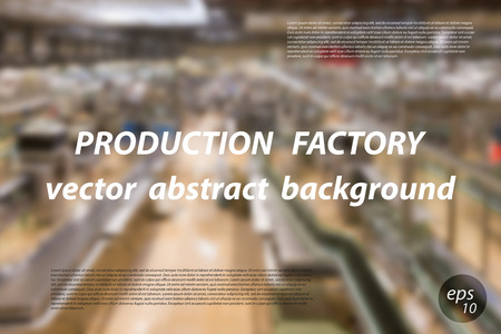 shop floor: abstract background, blurred production factory or shop floor with space for text.