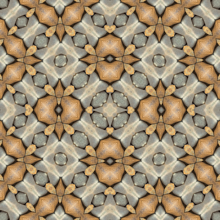 rubble: Seamless stone texture or decoration, abstract pattern. Design element for background or wallpaper.