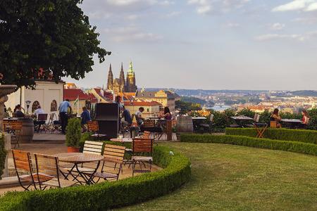 Prague, Czech Republic - June 07, 2018: The Prague Castle is located in Prague's Old Town, close to Prague Castle.