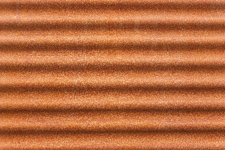 Rusty corrugated iron, rust orange abstract background, natural texture. Stock Photo