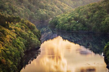 Romantic and tranquil valley of River Vltava near Prague, Czech Republic