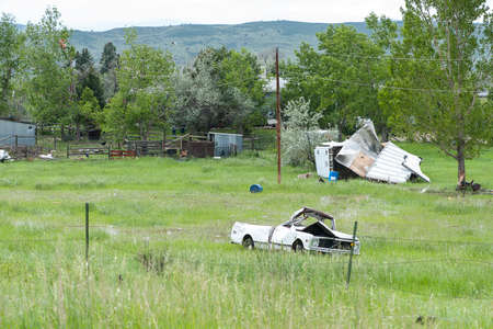 fema: Wreckage caused from a tornado in Larimer County including the cities of Berthoud and Longmont Colorado on June 4 2015.