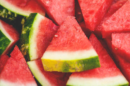 watermelon: Close-up view of red, juicy watermelon slices, shallow DOF
