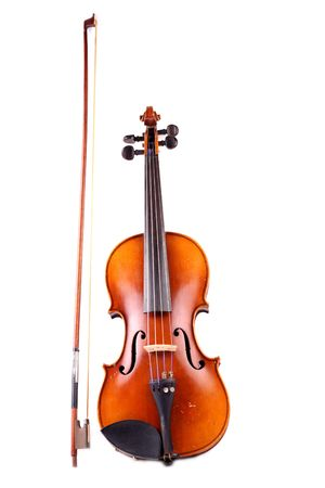 old and antique violin photo