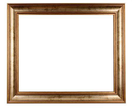ornate gold frame: marco de antig�edades