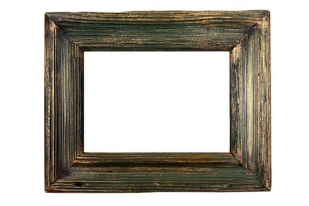 green wooden frame photo
