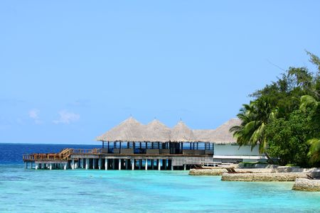 water resort on Maldives Stock Photo - 3439211