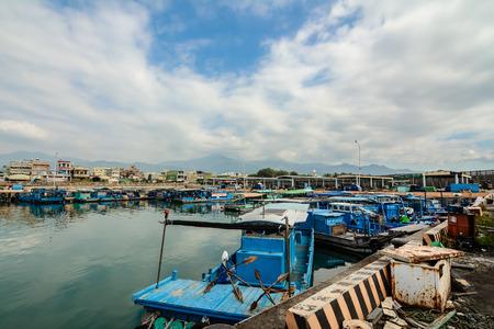 fisher animal: fisher town, Taiwan Editorial
