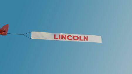 Plane flag banner for a UK location.