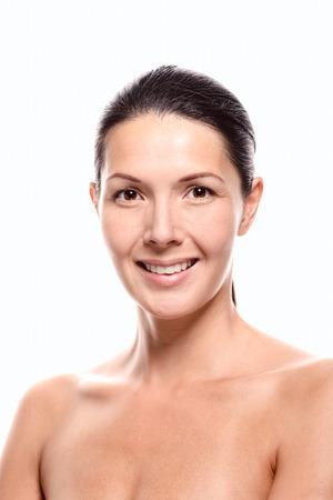 cabelo amarrado: Modelo f Banco de Imagens