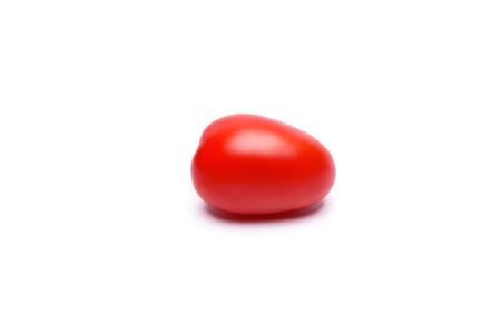 lycopene: Freshly washed Roma tomato isolated on white, rich with cancer fighting lycopene
