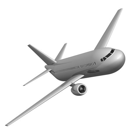 Jet Airliner Isolated on White