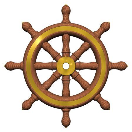 timon barco: Del buque volante aisladas en blanco
