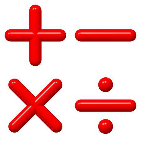 multiplicar: Brillante matem�ticas s�mbolos aislados en blanco