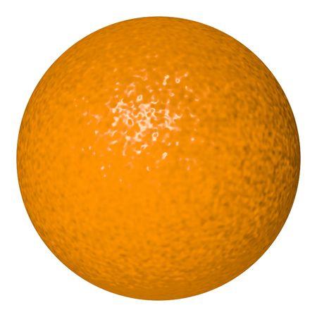 Perfect orange isolated on white Stock Photo