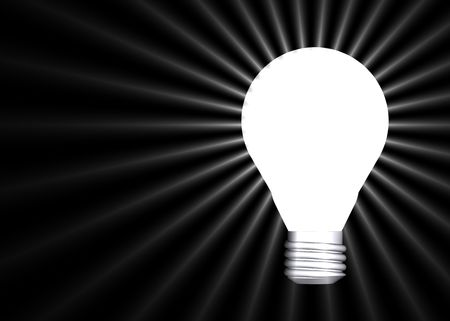 Perfect lightbulb background copyspace