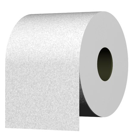 Perfect roll of toilet paper