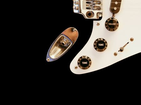 Perfect electric guitar controls isolated on black