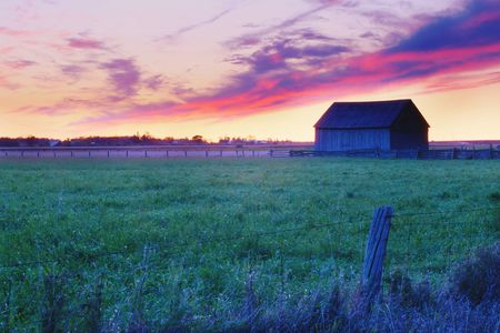 Beautiful HDR photo of a sunrise in rural Ontario