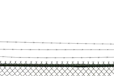 p�rim�tre: Prison de cl�ture isol� sur blanc