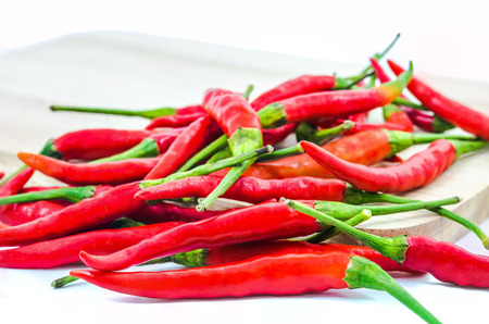chillies: chillies isolated Stock Photo