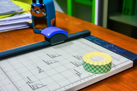sided: paper cuteter and double sided tape selective double sided tape