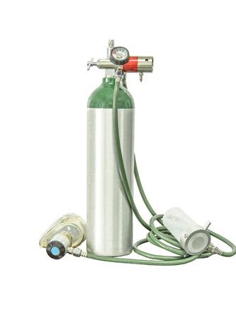 Agregar ruta de recorte del cilindro de oxígeno Foto de archivo