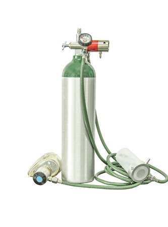 oxygen cylinder add clipping path Фото со стока
