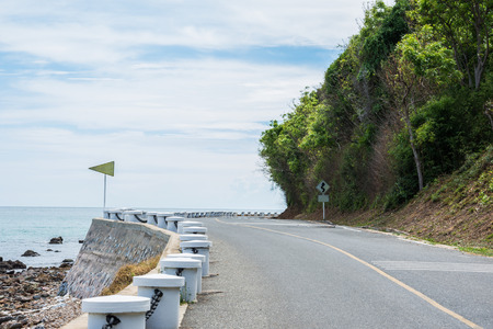seascapes: hill turn road  coastal seascapes