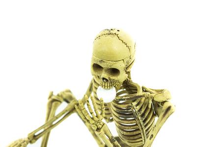 human body substance: skeleton eat drug dangerous select focus pf face of skeleton