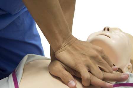 chest compression: CPR training isolated
