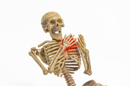 skeleton heart pain add clipping path Stock Photo