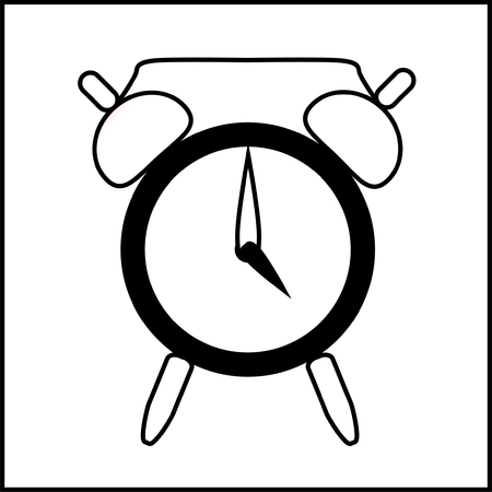 o'clock: icon clock show time four oclock isolated vector Illustration
