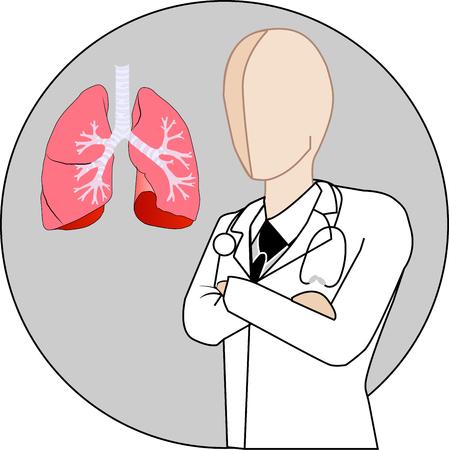 Pulmonologist white gown suit icon vector
