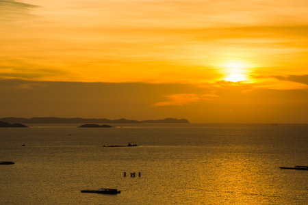 sihouette: sea sunset sihouette landscape holiday vacation summer asia