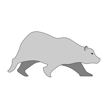 runing: animal mammal gray bear runing icon isolated
