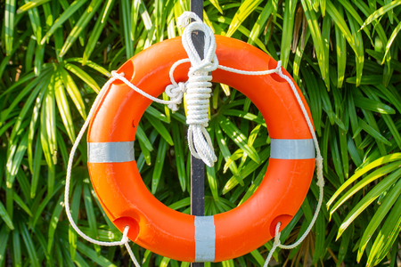 ring buoy and line or life buoy for rescue victim drowning