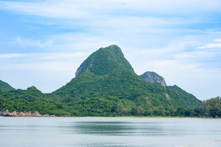 seascapes and mountain relaxation in vacation natural view Stock Photo
