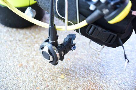 regulater cotrol breathing equipment for scuba diver Фото со стока