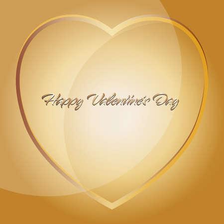 Happy Valentines Day Red heard and gift Ilustração