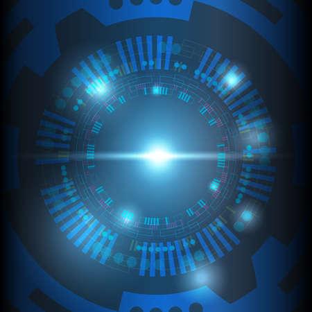 Portal and hologram futuristic circle on blue isolate background