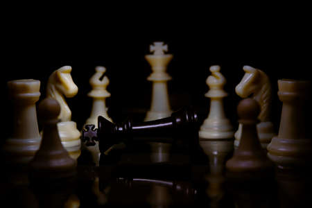 chess board game for ideas and competition and strategy, business success concept