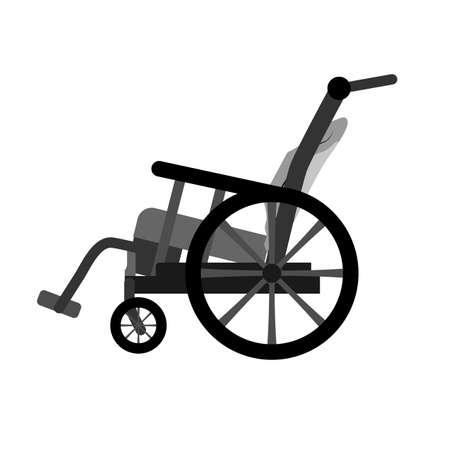 Wheelchair flat icon. Vector wheelchair icon on white background