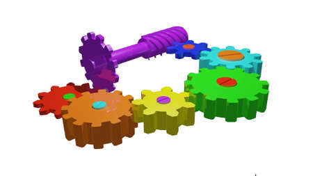 shafts: gears and shafts Stock Photo