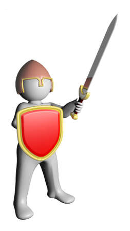 defending: Man with sword and shield