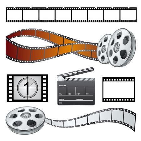 set movie theme  Vector