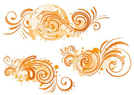 éléments de conception de motif décoratif