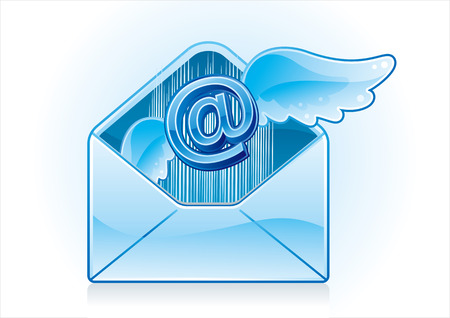 blue email  icon Stock Vector - 7499540
