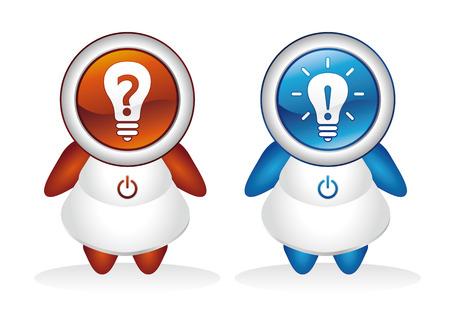 vector button,ideas,human Vector